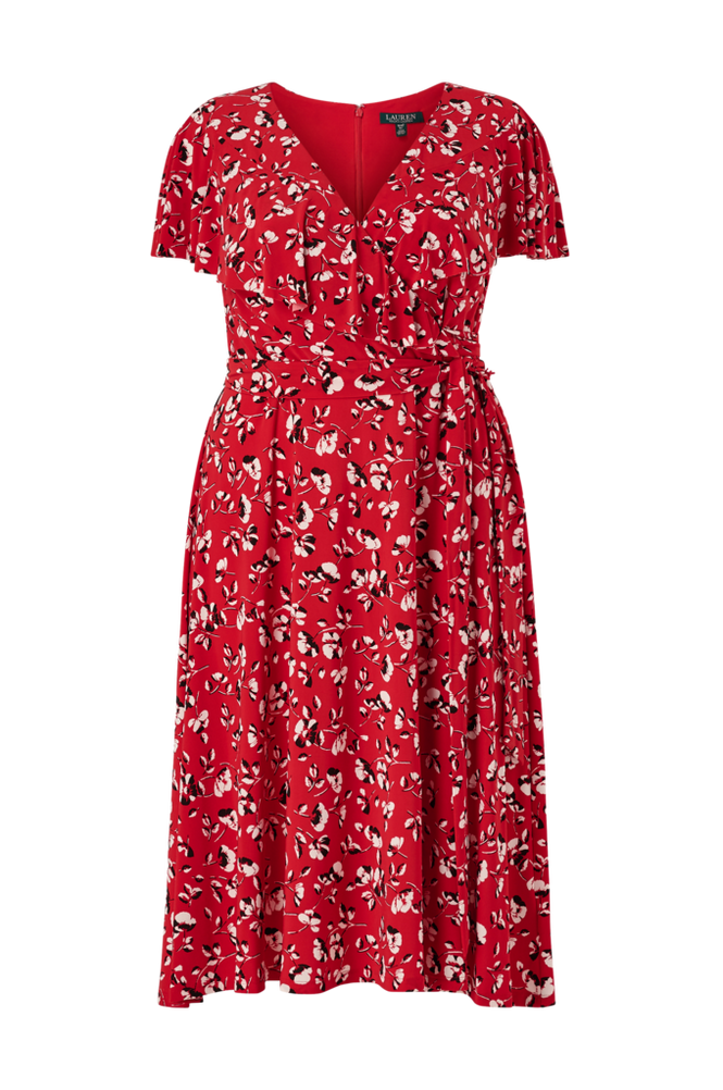 Lauren Ralph Lauren Curve Slå om-kjole Chrissy Short Sleeve Day Dress