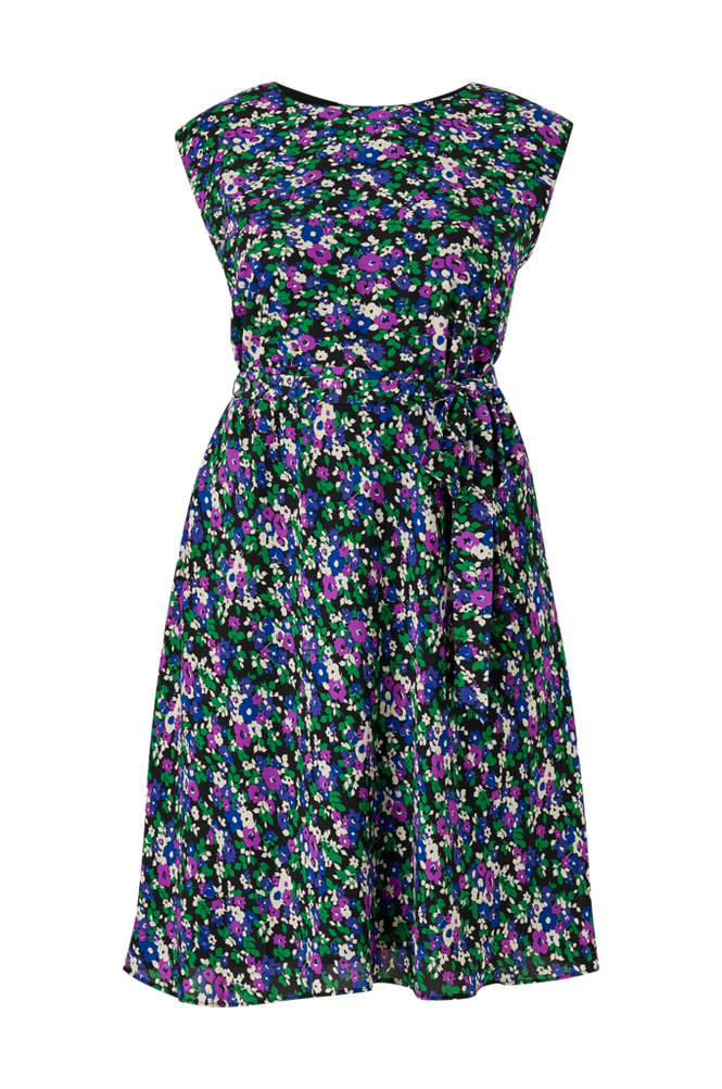 Lauren Ralph Lauren Curve Kjole Vilodie-Cap Sleeve-Casual Dress