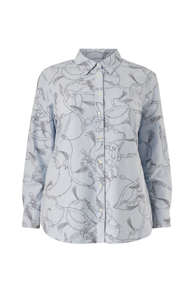 Se Lauren Ralph Lauren Curve Skjorte Jamelko Long Sleeve Shirt ved Ellos