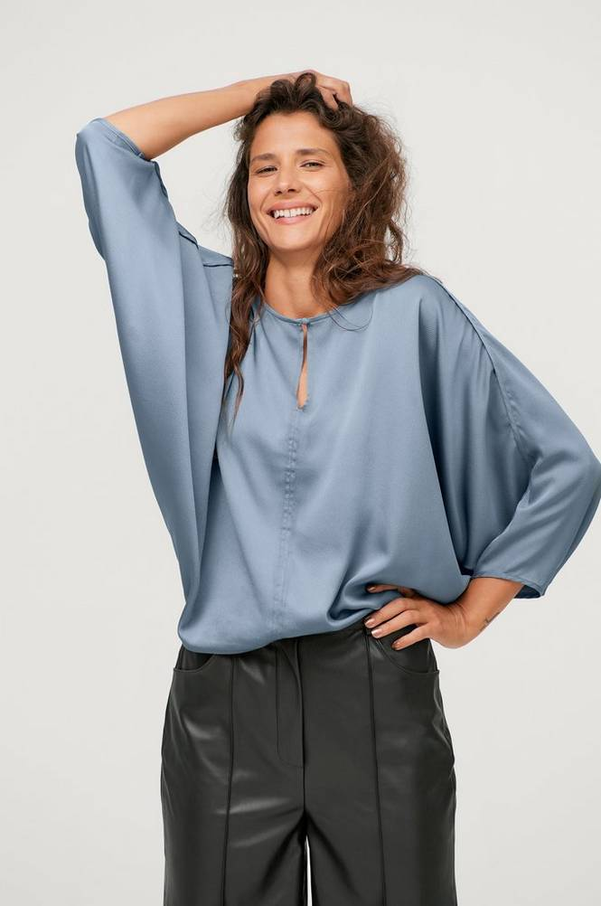 Soaked in Luxury Bluse slVeria Blouse 3/4