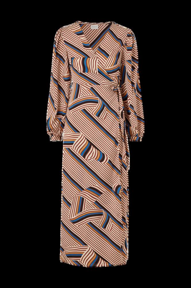 Vila Slå om-kjole viDoletta Graphic L/S Dress
