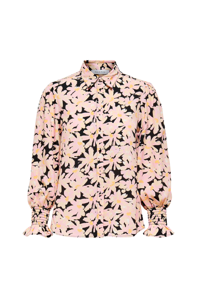 Only Bluse onlLila L/S Smock Cuff Shirt