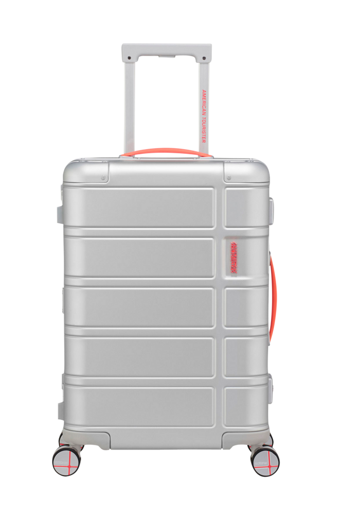 American Tourister Alumo Spinner 55 Neon Coral