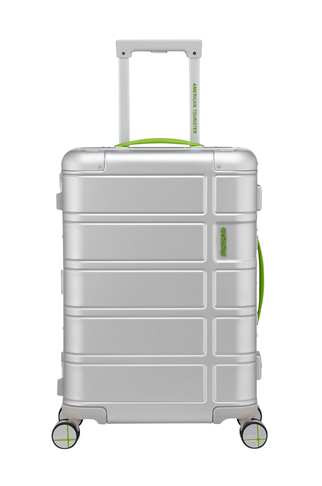 American Tourister Alumo Spinner 55 Neon Lime