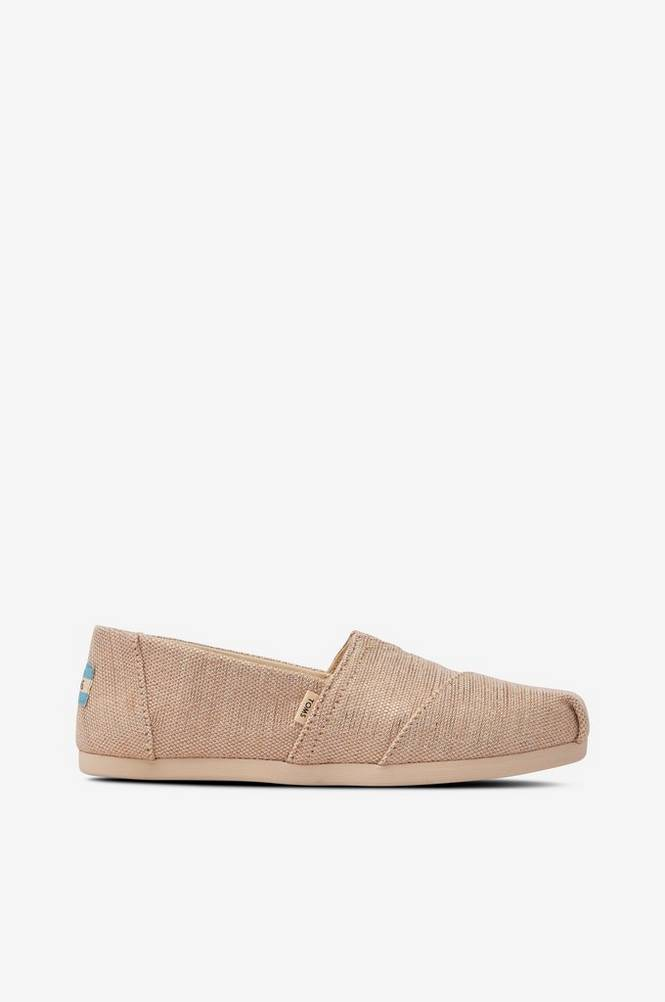 TOMS Sneakers/Espadrillos Natural Metallic Woven