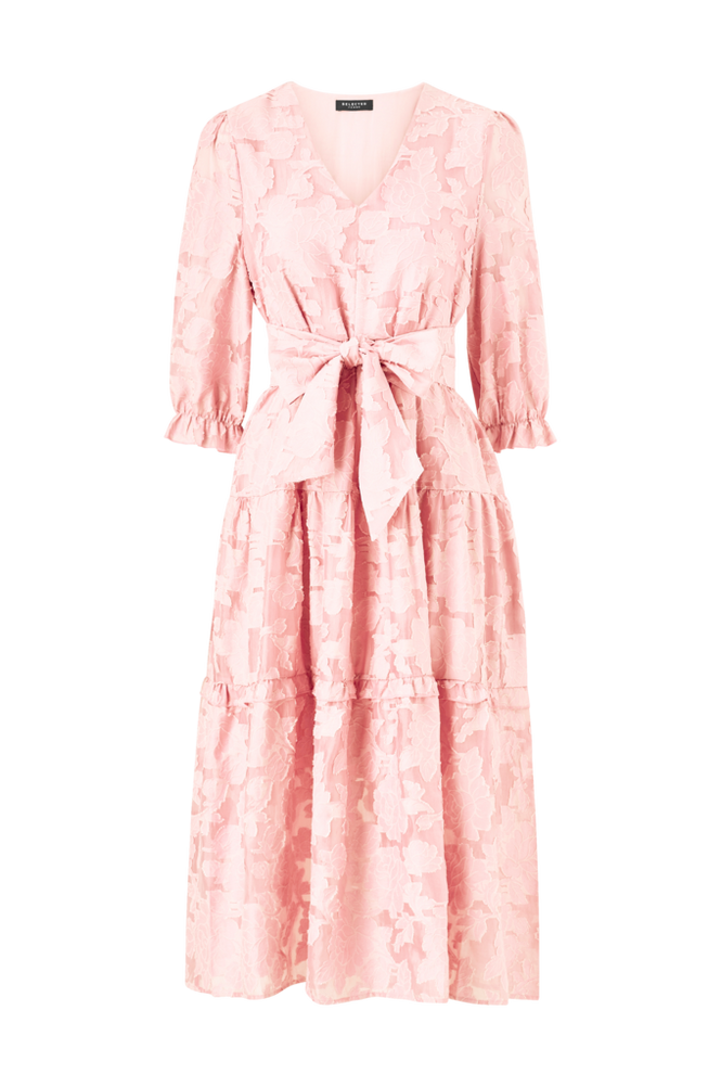 Selected Femme Kjole slfSadie 3/4 Midi Dress