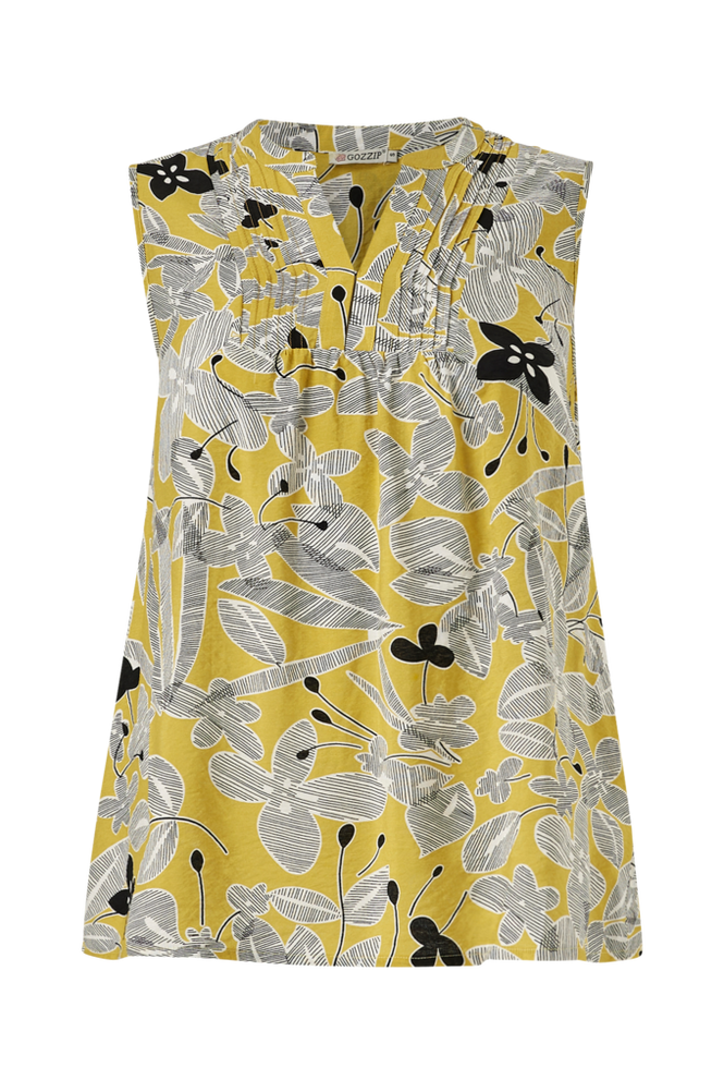 Gozzip Bluse med krøllet struktur