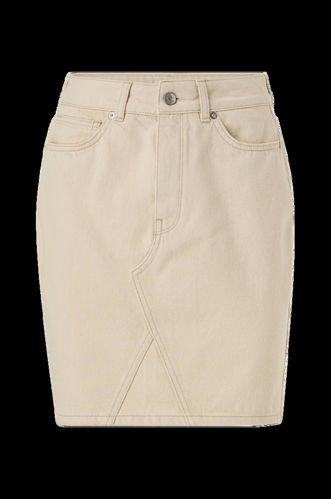 Selected Femme Denimnederdel slfHelena MW Jade White Denim Skirt