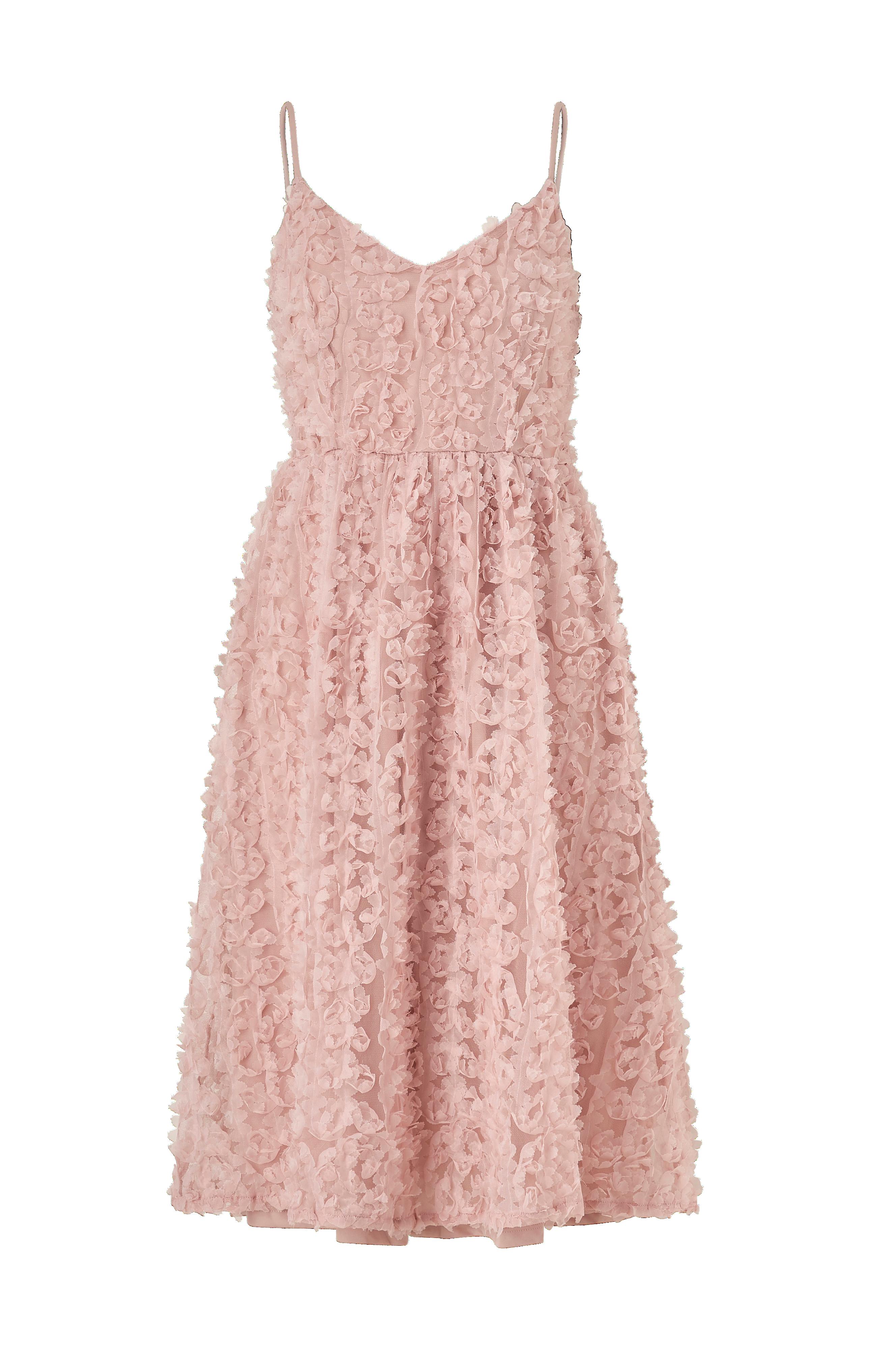 Vila Kjole viScarlet S/L Dress - Rosa - Korte kjoler