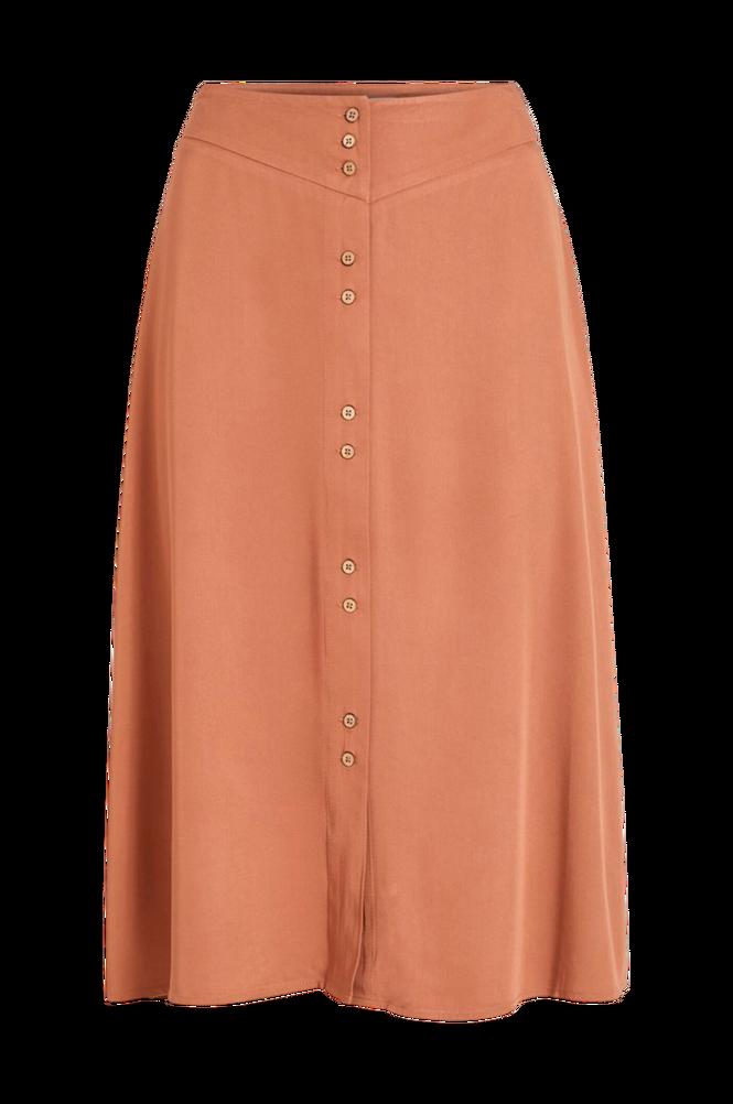 Vila Nederdel viMorose HW Button Midi Skirt
