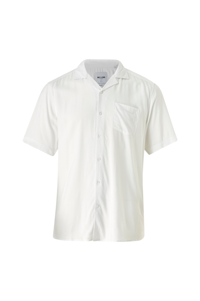 Only & Sons Skjorte onsSilo SS Solid Reg Viscose Shirt