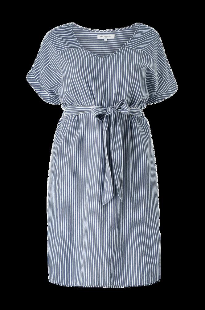 Only Carmakoma Kjole carIsa Life Stripe Dnm SS Knee Dress