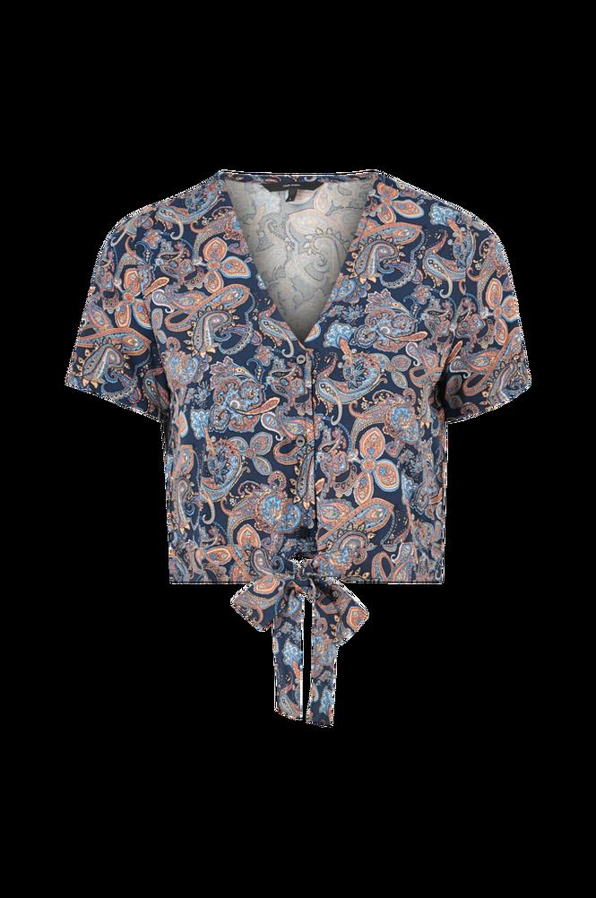 Vero Moda Bluse vmSimply Easy S/S Shirt Tie Top Wvn
