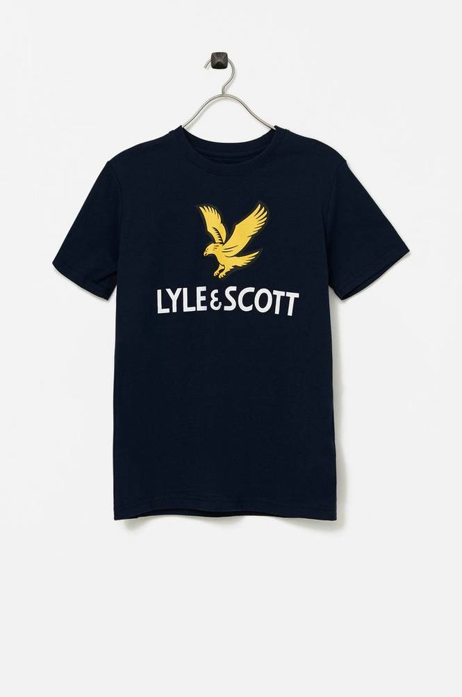 Lyle & Scott SS Lyle Eagle Logo T-Shirt Bright White 8-9Y