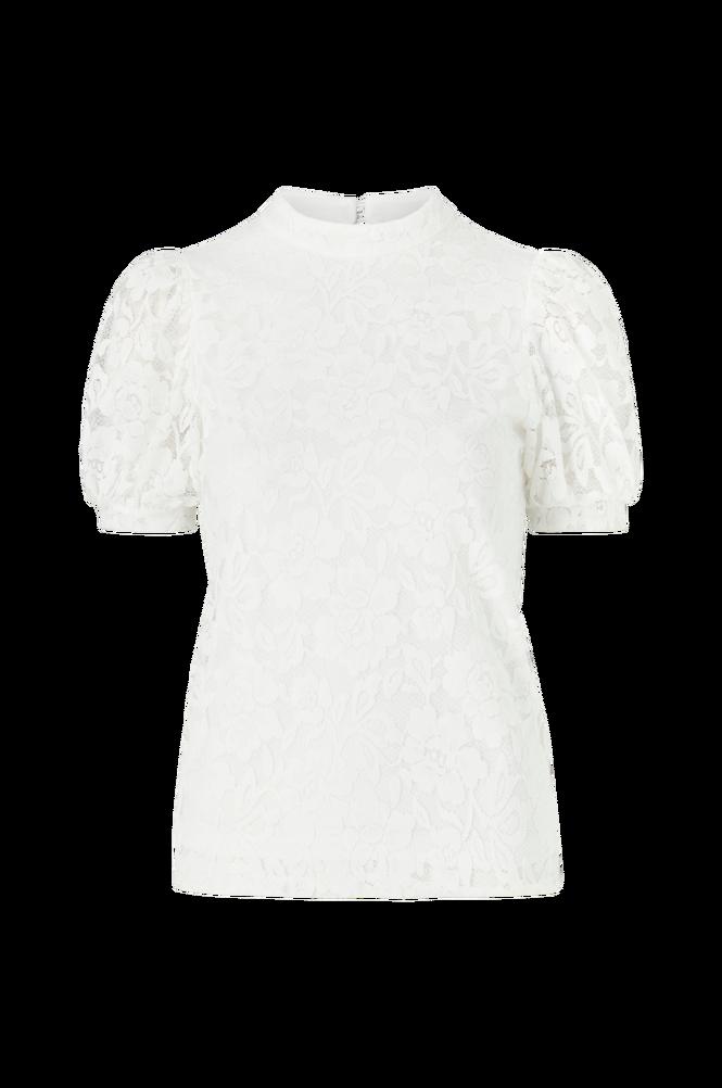 Vila Blondetop viLilja S/S Puff Sleeve Lace Top
