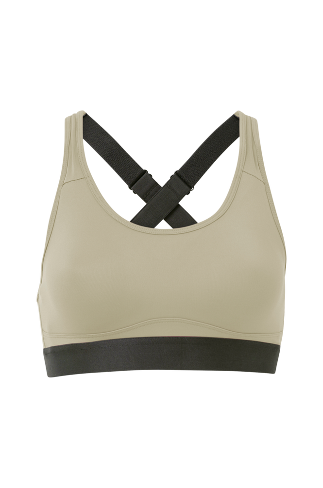 Stay in place Sports-bh Padded Crossback Bra
