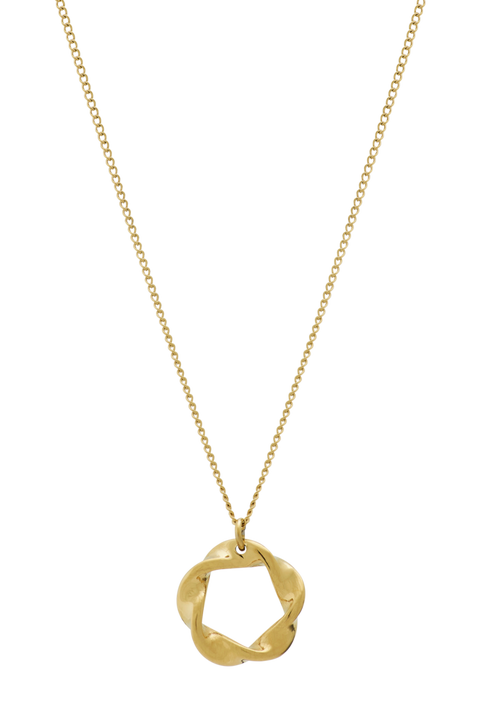 Halsband Swirl Necklace Small Gold