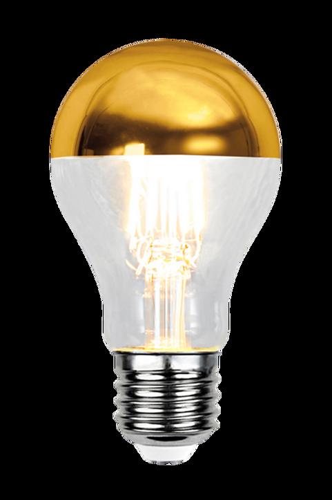 Ljuskälla E27 LED Toppförspeglad Guld 4W