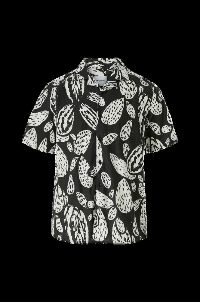 Only & Sons Skjorte onsAsmus SS Reg Slub Aop Shirt