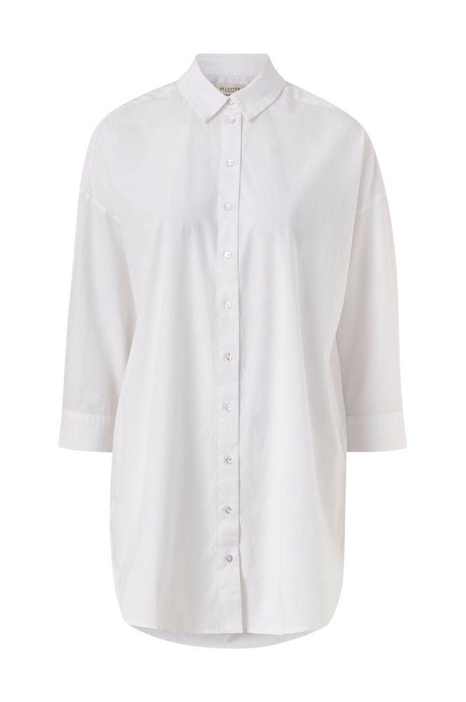 Selected Femme Lang skjorte slfAmi 7/8 Long Shirt