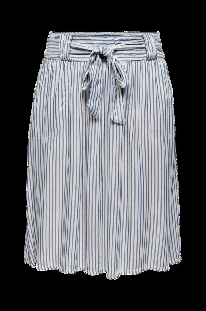 Only Carmakoma Nederdel carIsa Stripe Dnm Skirt