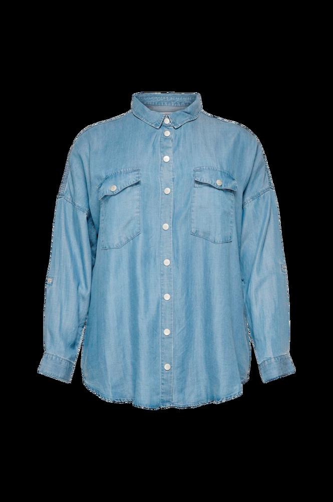 Only Carmakoma Skjorte carUsh Life LS Oversize Shirt