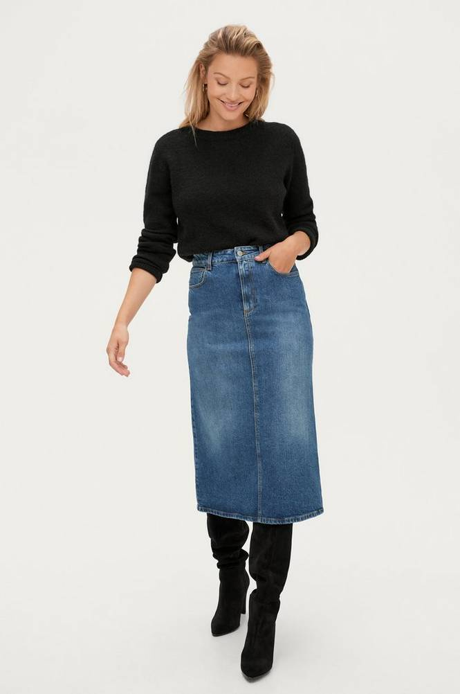 Dagmar Denimnederdel Sky Denim Skirt