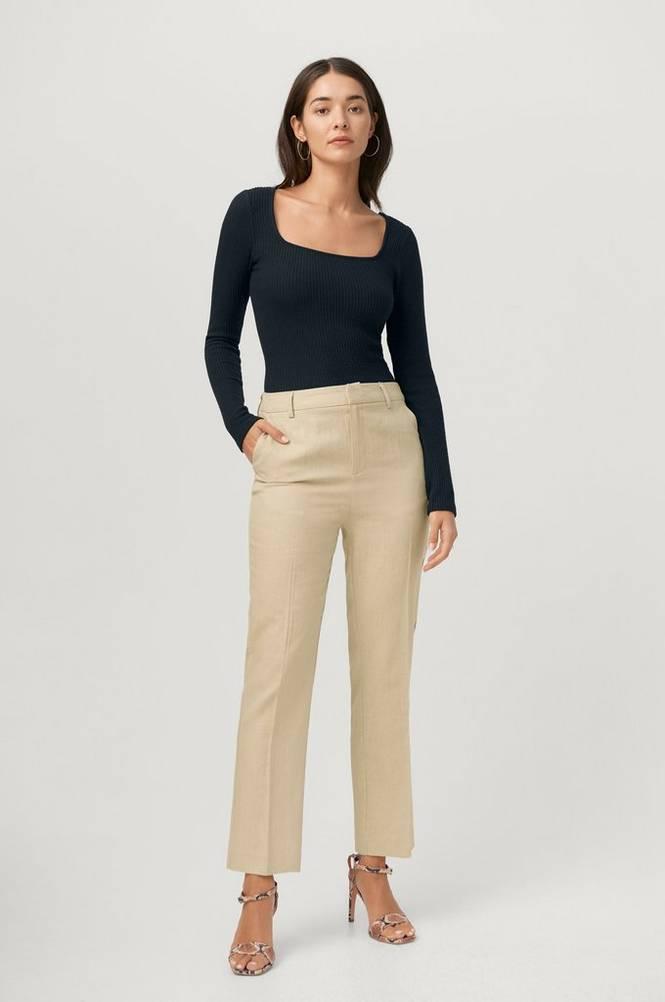 Se Gina Tricot Bukser Lisa Linen Trousers ved Ellos