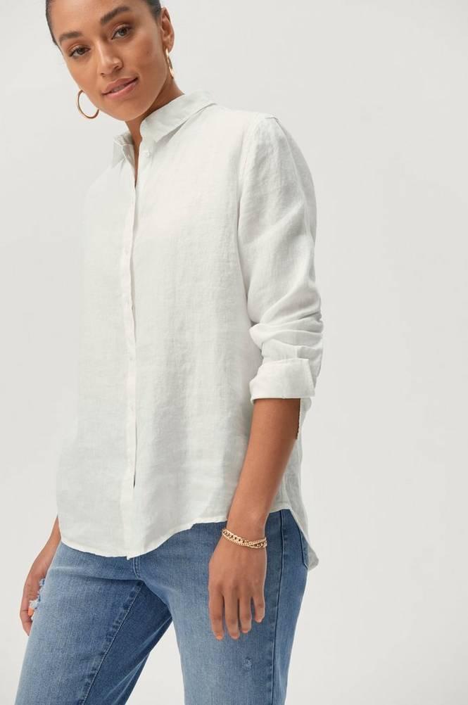 Se Gina Tricot Hørskjorte Kimberly Linen Shirt ved Ellos