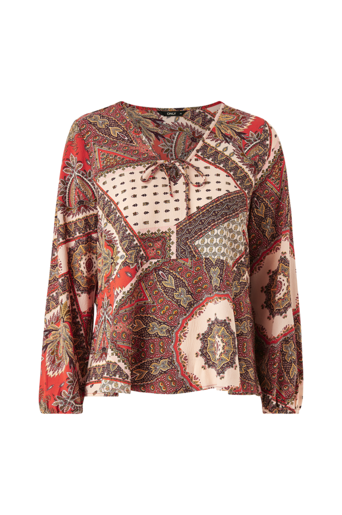 Only Bluse onlNova Lux L/S Bow Top