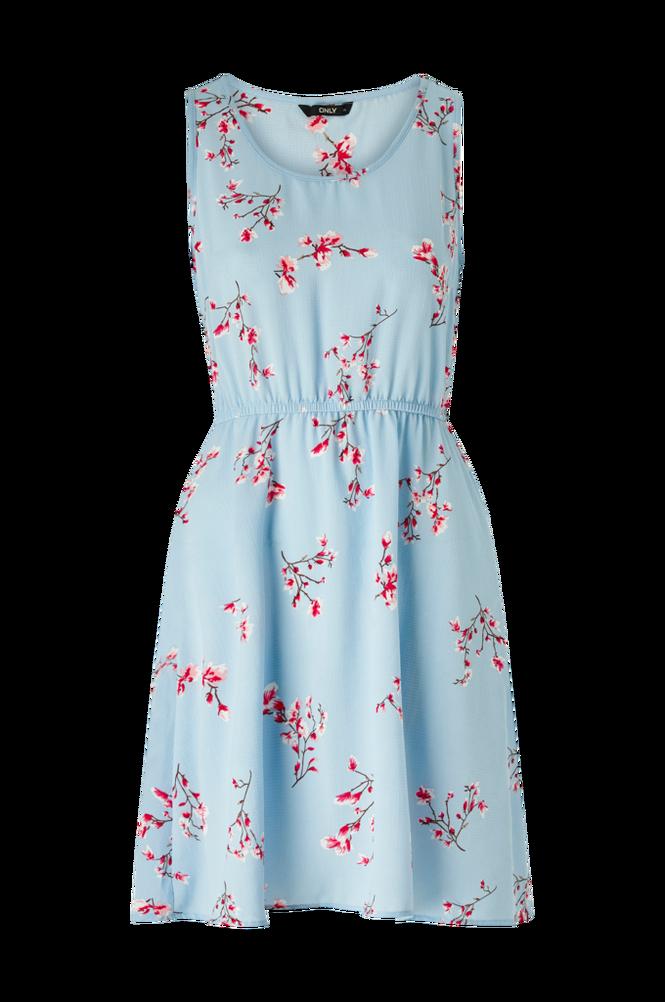 Only Kjole onlNova Lux S/L Sara Dress Aop Wvn