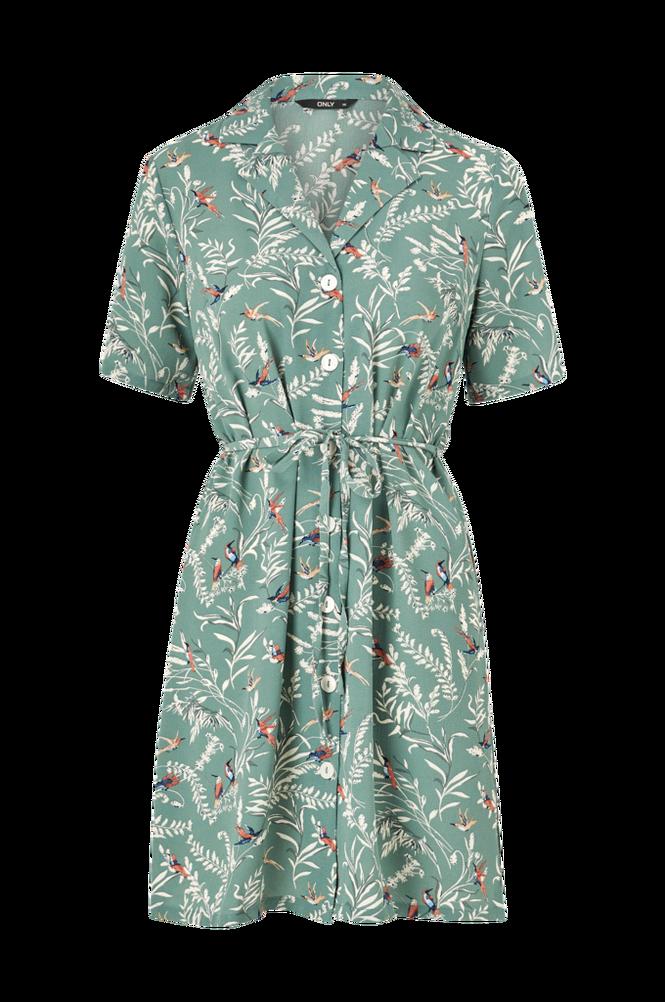 Only Skjortekjole onlNova Lux S/S Button Dress Aop Wvn