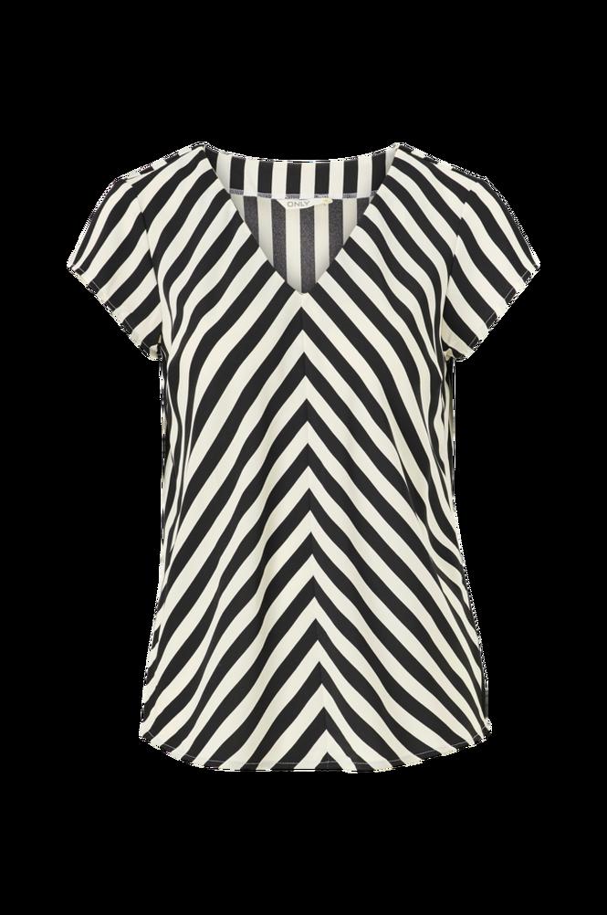 Only Bluse onlLuma S/S V-neck Top Wvn