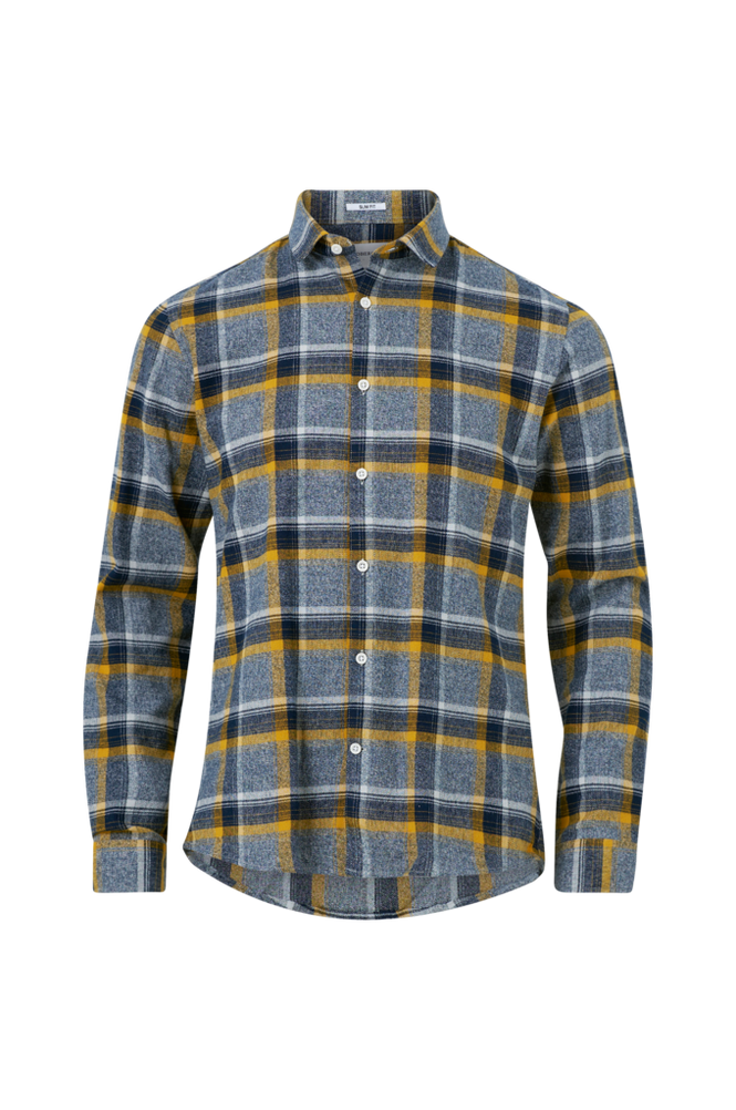 lindbergh Skjorte Checked Flannel Shirt L/S