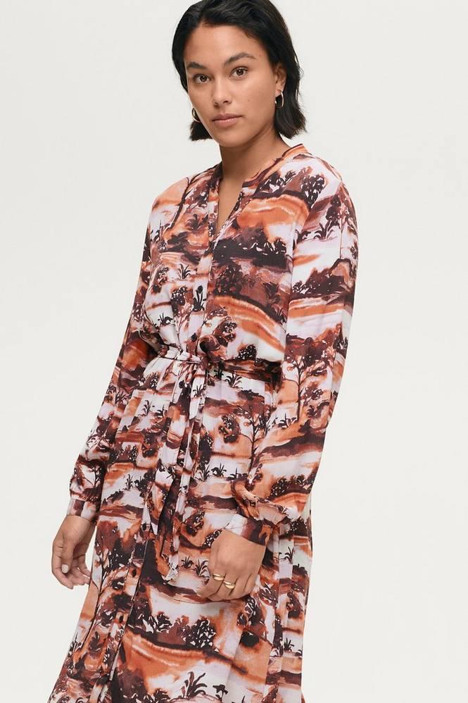 Soaked in Luxury Skjortekjole slEndzela Dress LS