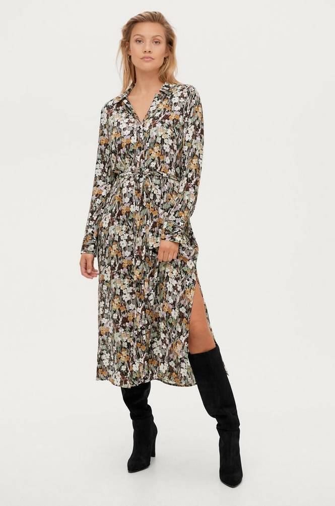 Soaked in Luxury Maxikjole slMori Halima Dress LS
