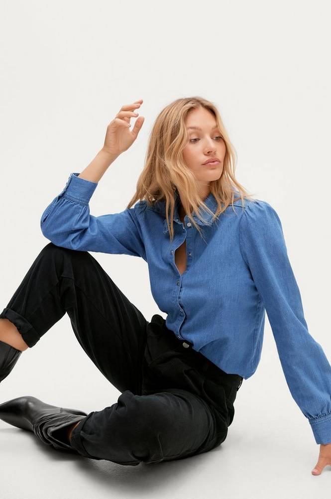 Soaked in Luxury Denimskjorte slTinatin Denim Shirt LS