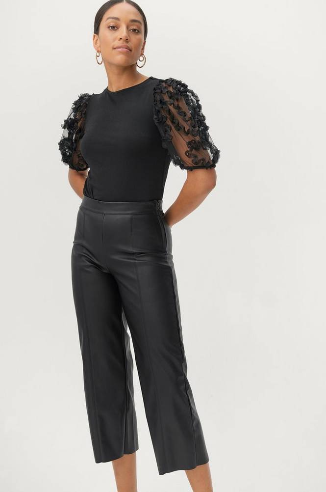Gina Tricot Bukser Holly PU Culotte Trousers