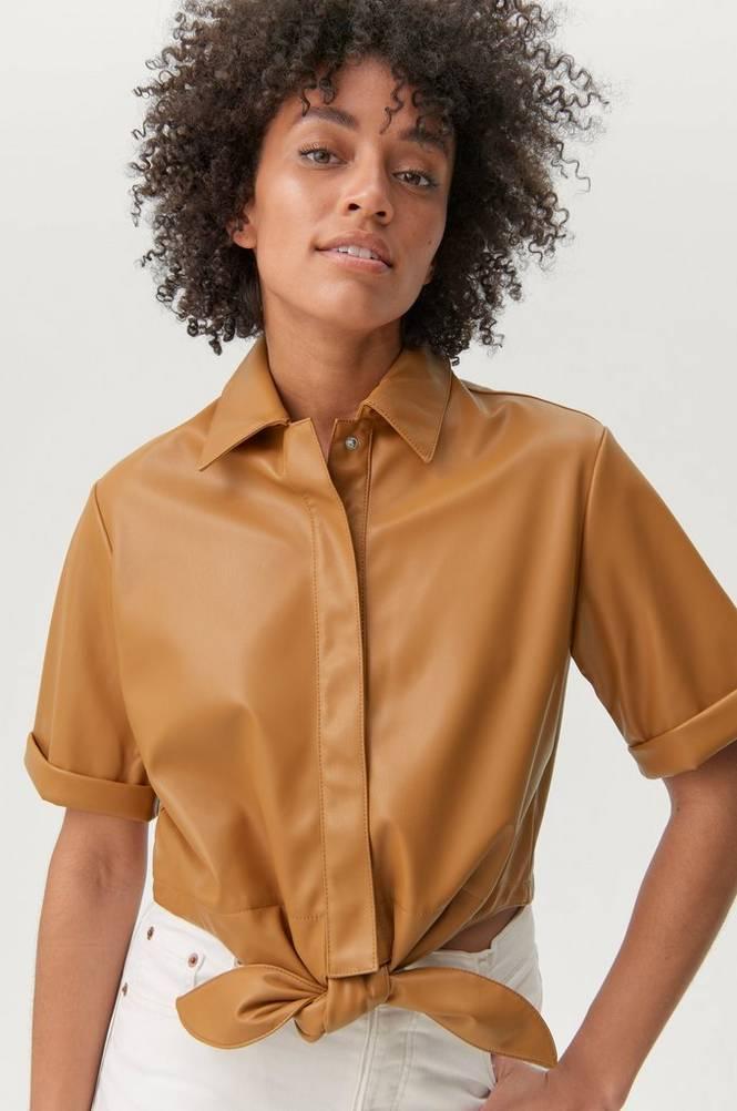 Gina Tricot Skjorte Tea Tie PU Shirt