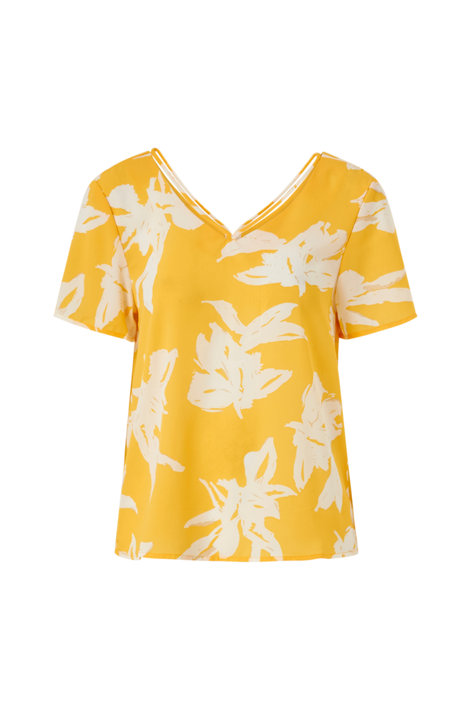 Only Bluse onlAlma Life Poly S/S String Top Aop Wvn