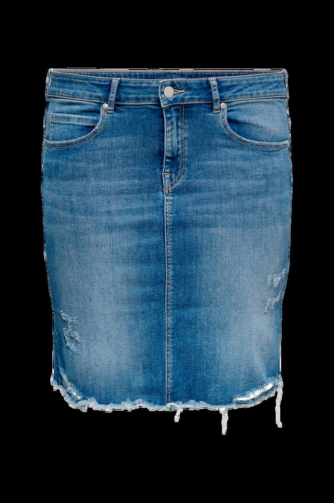 Only Carmakoma Denimnederdel carVera Lifeknee Denim Skirt