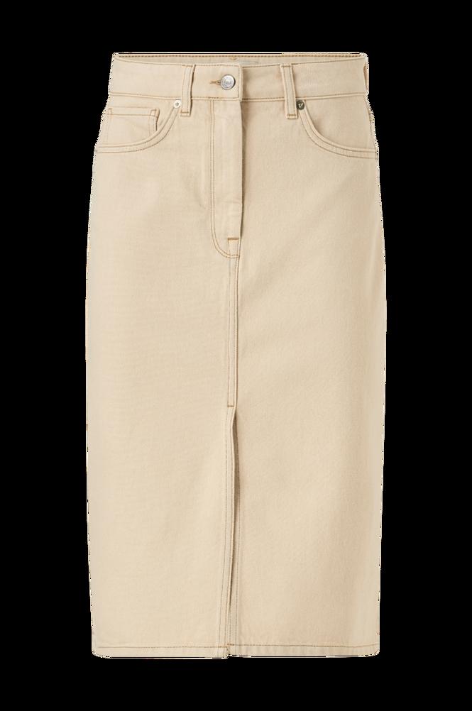 Selected Femme Jeanskjol slfMay Jade White Denim Skirt
