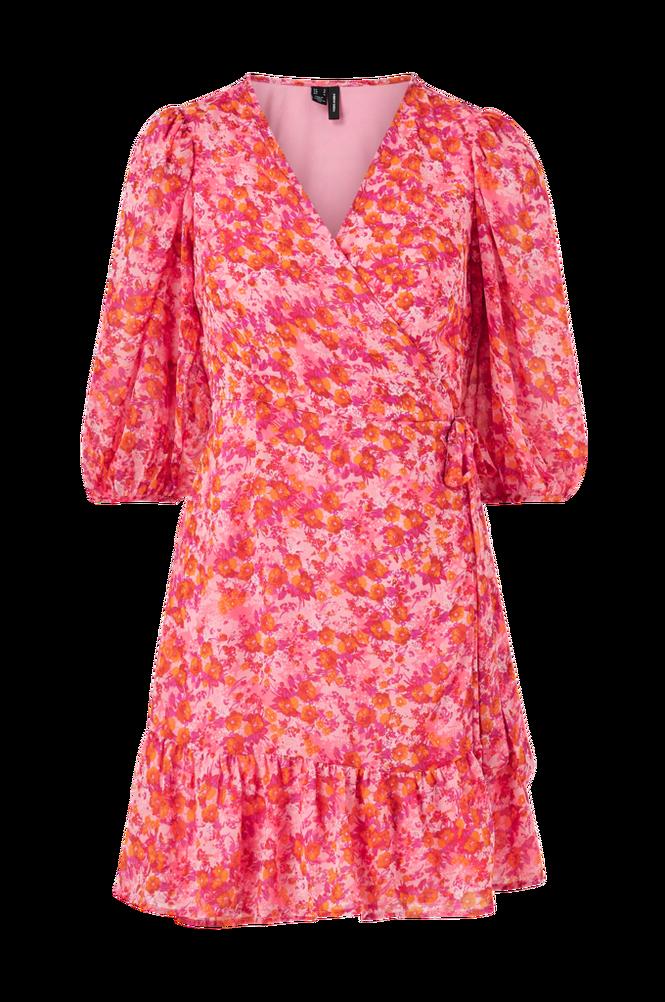 Se Vero Moda Slå om-kjole vmAnneline 3/4 Wrap Dress ved Ellos