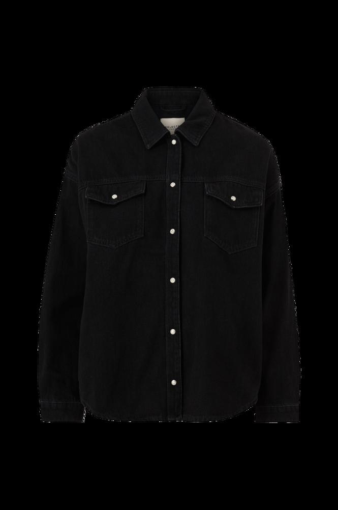 Selected Femme Denimskjorte slfAlly LS Black Denim Shirt
