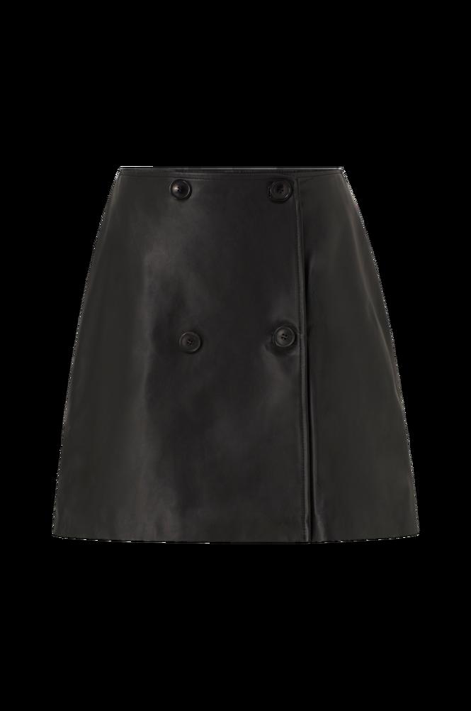 Selected Femme Skindnederdel slfAlberte MW Leather Skirt