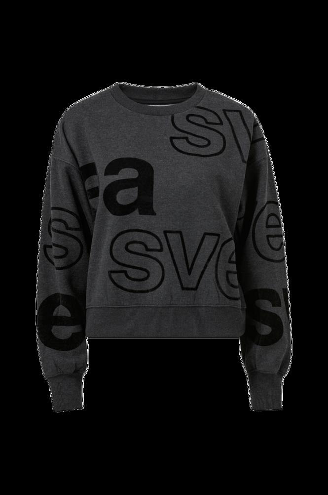 Svea Sweatshirt W. All Over Flockprint Crew