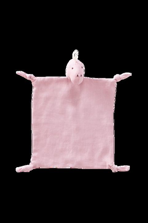 Snuttefilt Dino linne rosa