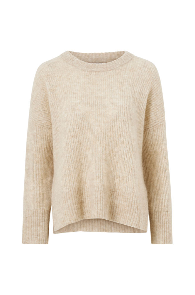 Second Female Uldtrøje Koorb Knit O-Neck