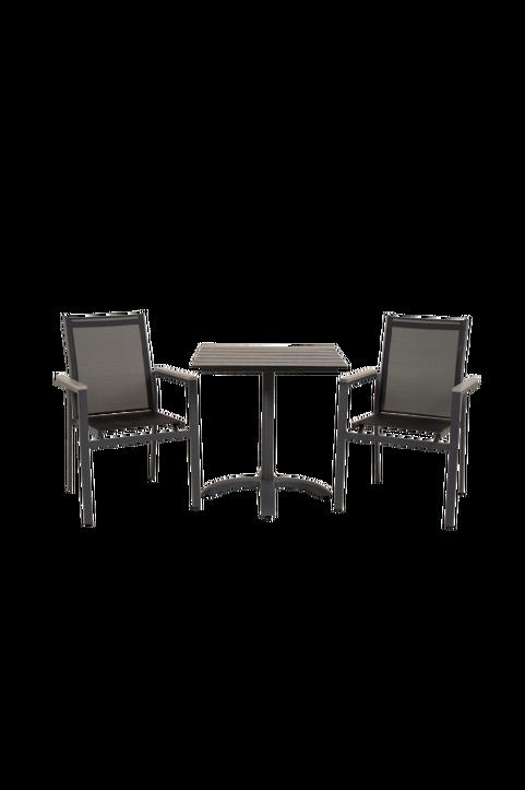 Cafébord Costa och 2st Pascal mat stol