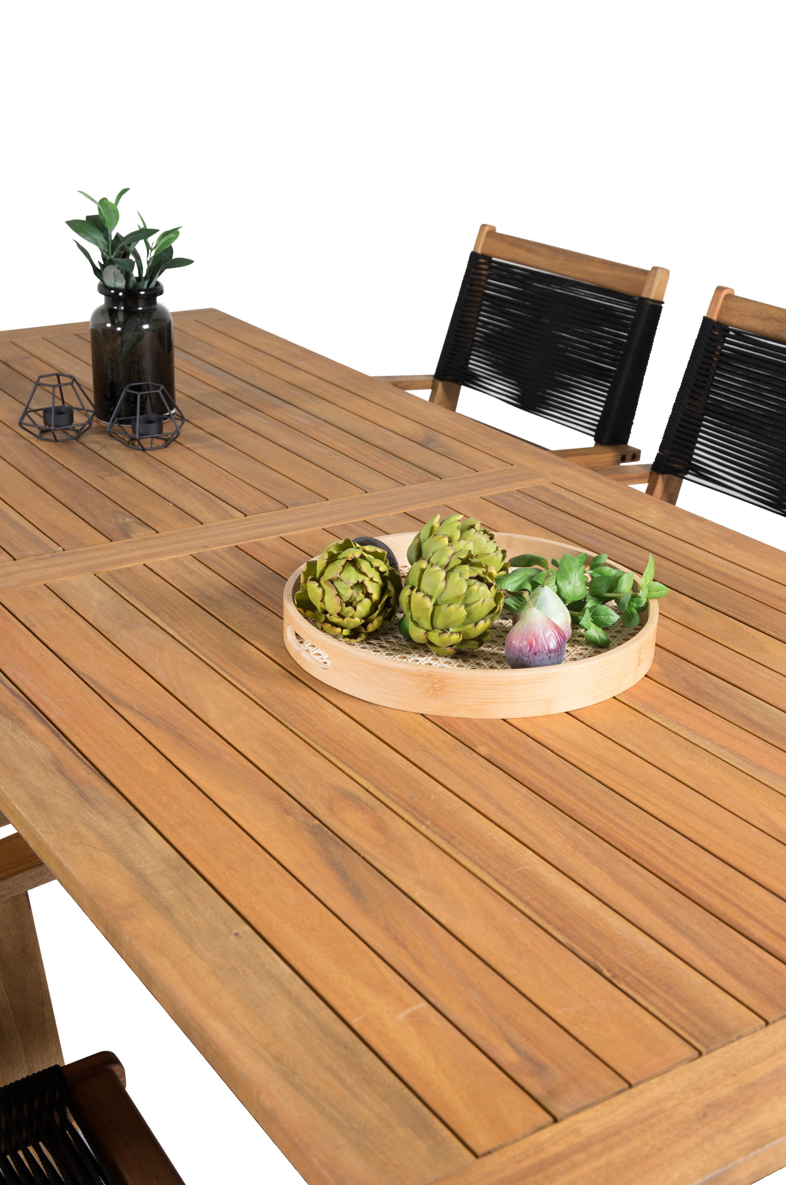 NORDFORM Spisebord Celine og 6 Pluto spisestoler Natur
